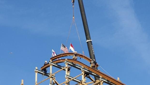 Walibi Holland Untamed Baustelle (höchster Punkt)