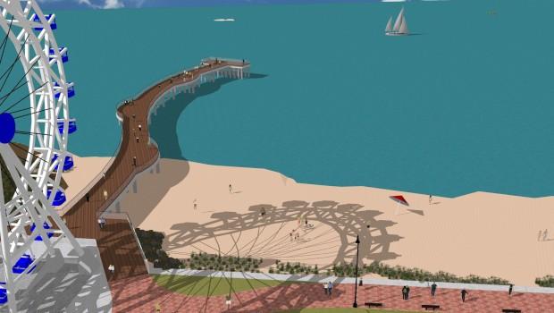 Bay Beach Pier Artwork