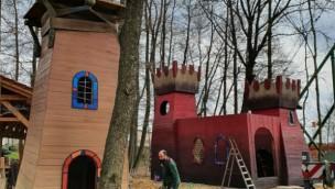 Bayern Park neuer Spielplatz Räuberwald