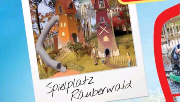 Bayern-Park neuer Spielplatz Räuberwald Artwork
