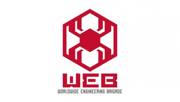 Disneyland Paris Worldwide Engineering Brigade Logo (Spiderman-Attraktion)