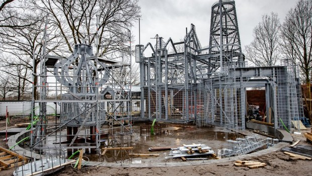 Efteling Die sechs Schwäne Baustelle 2019
