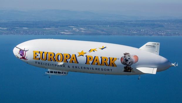 Europa-Park Zeppelin mit Snorri und Euromaus