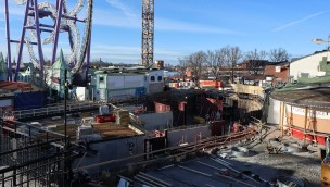 Gröna Lund Bolliger & Mabillard Inverted Coaster Bauarbeiten 2019