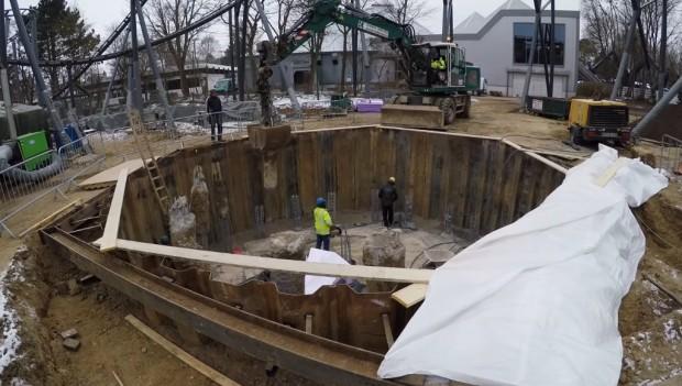 Hansa-Park Highlander Fundamentarbeiten