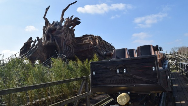 Heide Park Colossos - Kampf der Giganten 2019 neuer Zug