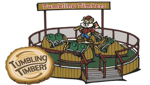 Knoebels Tumbling Timbers Artwork