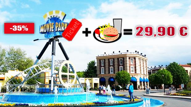 Movie Park Germany Angebot 2019 inkl. Hamburger