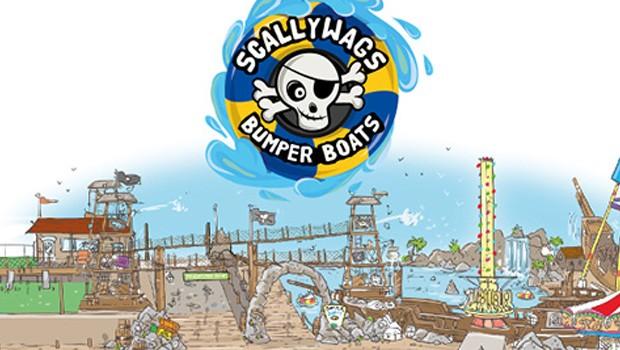 Scallywags Bumper Boats Codonas Amusement Park Konzeptzeichnung