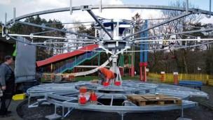 Freizeitpark Schloss Beck neue Attraktion 2019 Aufbau