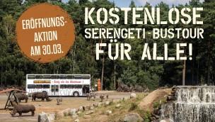 Serengeti-Park lädt Besucher zum Start der Saison 2019 zu kostenloser Bus-Tour ein