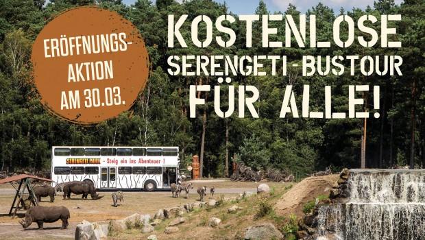 Gratis-Bustour Serengeti-Park