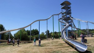 Sonnenlandpark Lichtenau erweitert 2019 Deutschlands höchsten Rutschenturm
