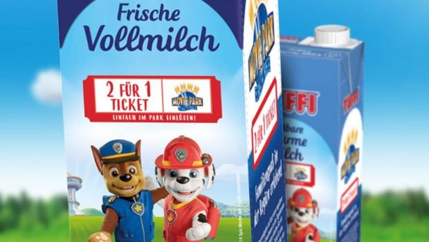 Tuffi Milch Gutschein 2-für-1- Für Movie Park Germany