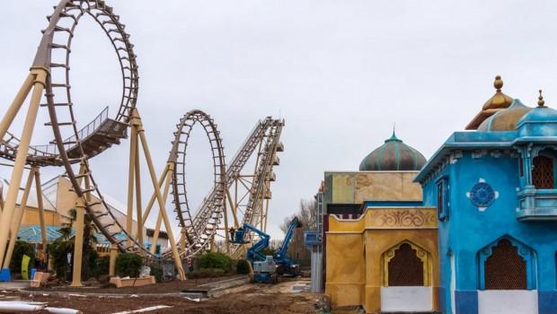 Walibi Belgium Cobra Boomerang 2019 Karma World Baustelle
