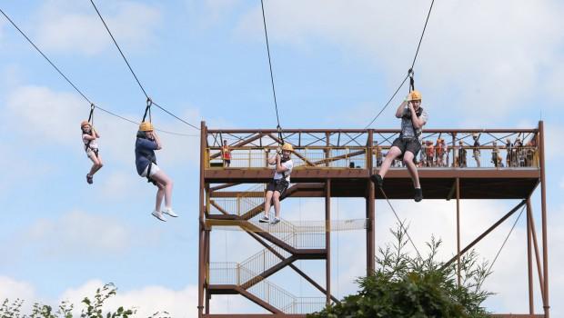 Seilrutsche Tayto Park Zip-Line Extreme