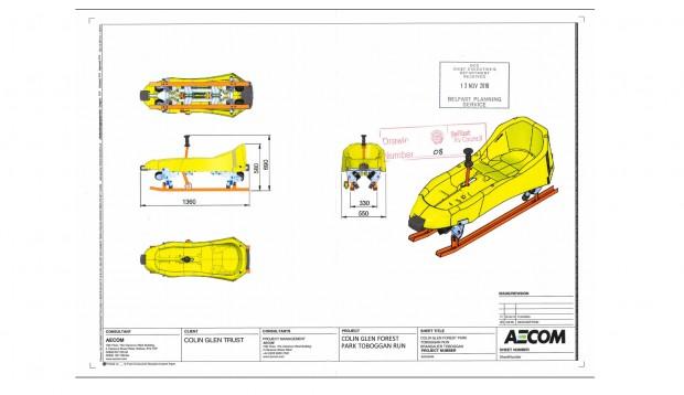 Colin Glen Forest Park Sommerrodelbahn Alpine Coaster Entwurf