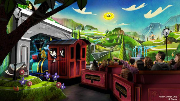 Disneyland Resort Mickeys and Minnie's Runaway Railway Artwork