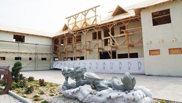 Freizeit-Land Geiselwind Drachenbucht drachenküche Restaurant Baustelle