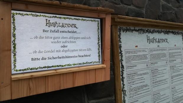 Hansa-Park Highlander Kippeffekt Zufallsentscheidung