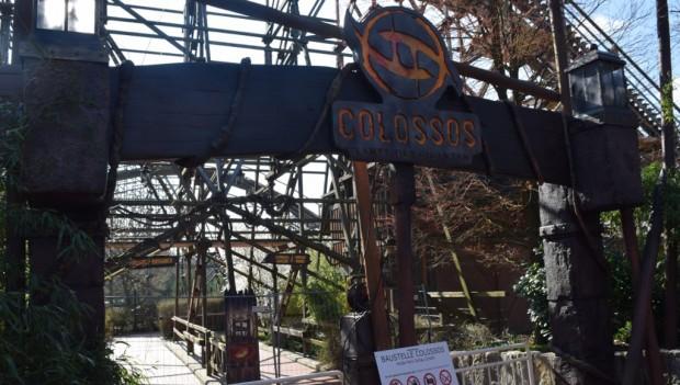Heide Park Colossos - Kampf der Giganten Wartebereich Baustelle 2019
