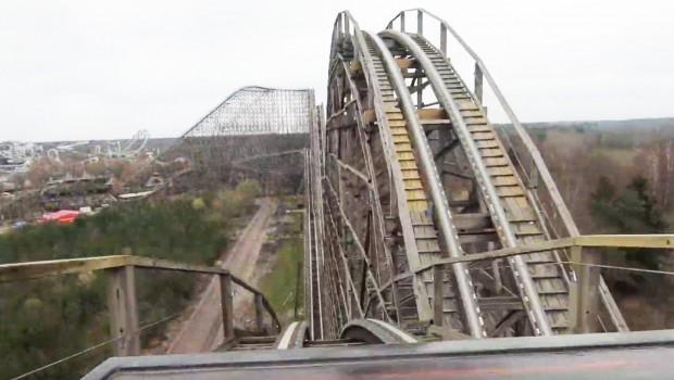 Heide Park Colossos Testfahrt OnRide POV