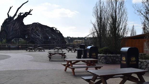 Heide Park Erneuerung von Vorplatz von Colossos 2019