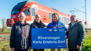 Karls Erlebnis-Dorf Bahn-Haltestelle