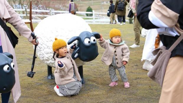 Shaun the Sheep Farm Garden Eröffnung Rosa & Berry Tawada
