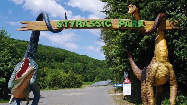 Styrassic Park Steiermark Eingang Dinosaurier