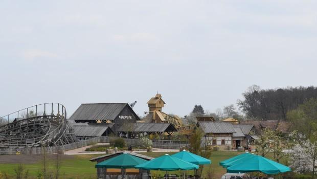 Tripsdrill Sägewerk Abenteuerspielplatz Baustelle Skyline