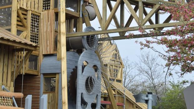 Tripsdrill Sägewerk Abenteuerspielplatz Baustelle Strukturen