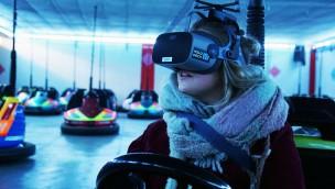 VR-Autoscooter Erlebnispark Schloss Thurn VR Brille