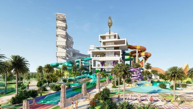 Aquaventure Waterpark Dubai Entwurf neuer Turm