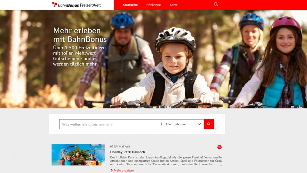 BahnBonus Rabatt-Aktionen Vergünstigungen 2019 Screenshot