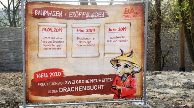Drachenbucht Freizeit-Land Geiselwind Bauzaun