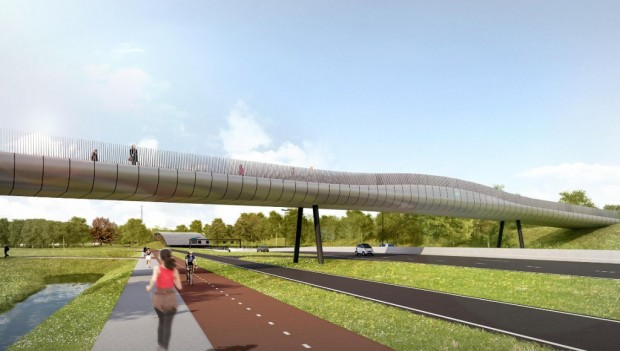Drievliet neuer Parkplatz und Brücke 2019 (Rotterdamsebaan)