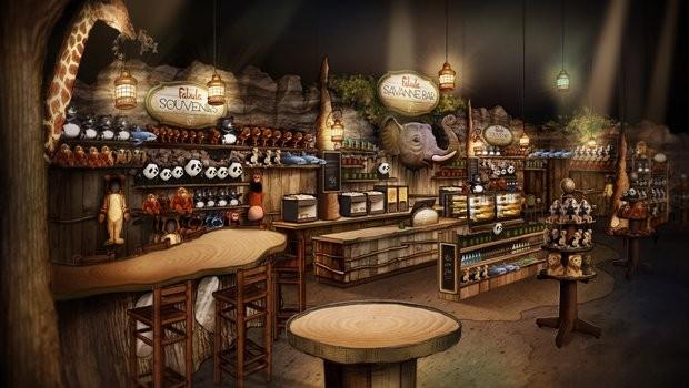 Das Artwork gibt einen Eindruck von der Neugestaltung des Shops. (Foto: Efteling)