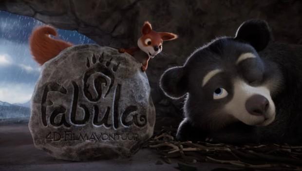 Das Eichhörnchen und der Bär werden die Hauptfiguren des Films sein. (Foto: Efteling)