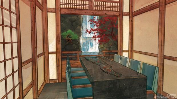Epcot Takumi-Tei Innenansicht Entwurf