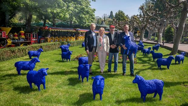 Europa-Park Aktion blaue Schafe 2019