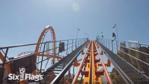 "So fährt ""Firebird"": Six Flags America zeigt Mitfahr-Video von umgebauter Achterbahn"