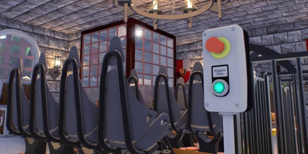 Fury Bobbejaanland PC-Simulation Achterbahn