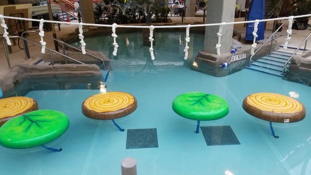Kartrite Wasserpark Balancier-Spielbereich
