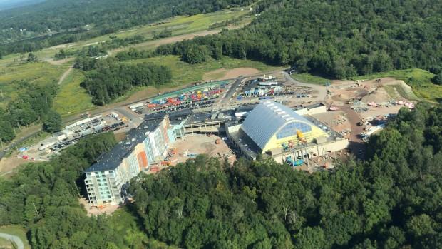Kartrite Wasserpark Bauphase Ansicht von oben