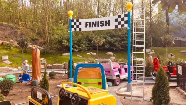 An der Convoy-Fahrt finden letzte Bauarbeiten statt. (Foto: Movie Park Germany)