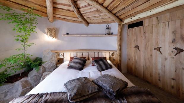 Pairi Daiza Full Moon Lodge Schlafzimmer