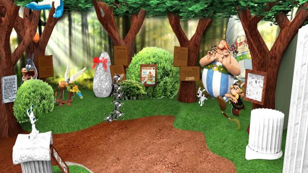 Parc Astérix Promo-Grafik Ausstellung Expo Asterix