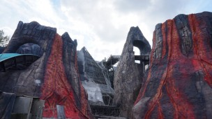 Mächtige Vulkanlandschaft prägt neue Wasserbahn-Gestaltung in Plopsaland De Panne – Vorab-Öffnung noch 2019 geplant