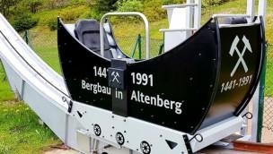 Rodelarena Altenberg gestaltet Butterfly um: Pendelbahn ab 2019 in neuem Bergbau-Design